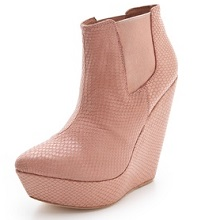 Madison Harding Pink Snake Booties